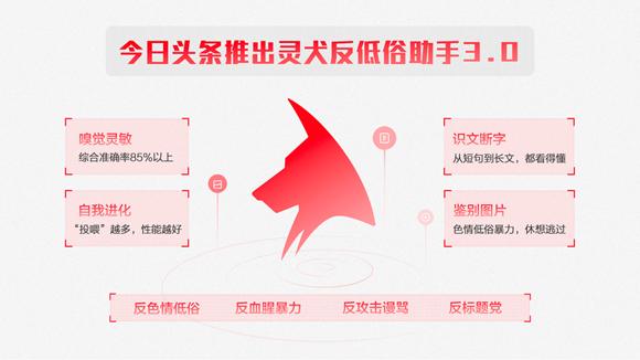 今日头条升级灵犬反低俗助手,新增图片识别功能