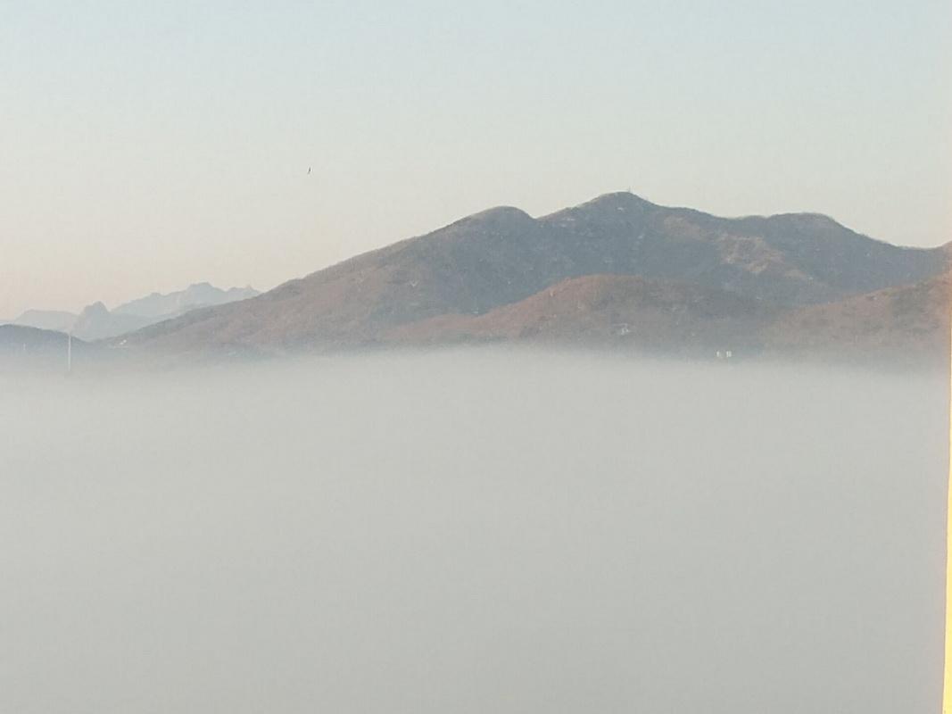 宛如仙境-温泉的平流雾