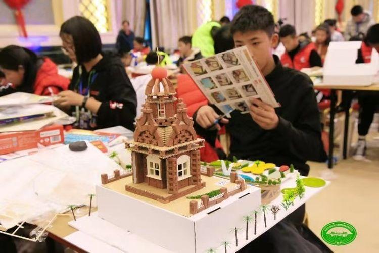 """2019""""共筑家园""""全国青少年建筑模型竞赛总决赛青岛队风采"""